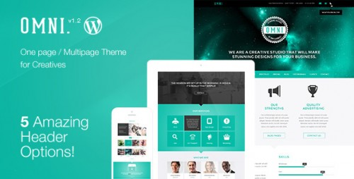 Omni - Onepage, Multipage WP Parallax Flat Theme