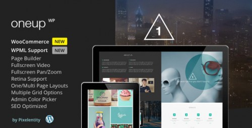 OneUp - One Page Parallax Retina WP Theme