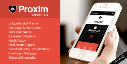PROXIM - WordPress One-page Parallax Theme
