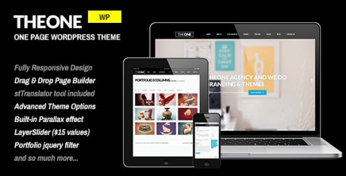 TheOne - Responsive WP One Page Parallax