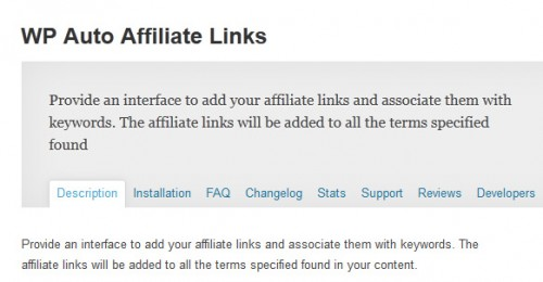 WP Auto Affiliate Links
