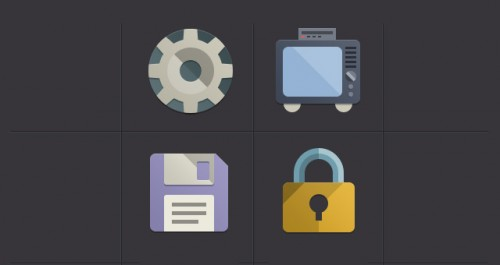 16 Flat Design Icons Set