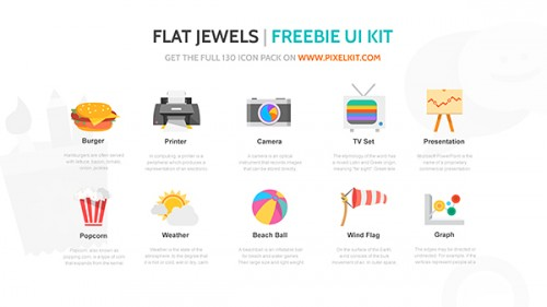 Flat Jewels Free Icon Set