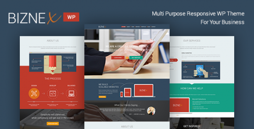 BizNex - Multi-Purpose Parallax WordPress Theme