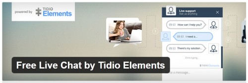 Free Live Chat by Tidio Elements