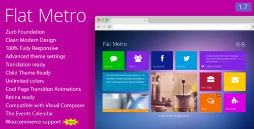 Flat Metro - Responsive WordPress Theme