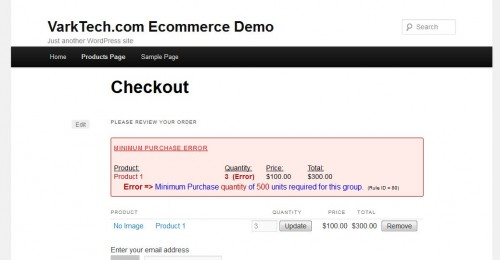 Minimum Purchase for WP E-Commerce