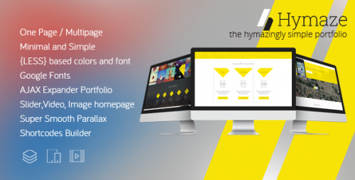 HYMAZE - Simple One Page Parallax Portfolio Theme
