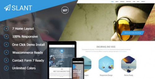 Slant - One Page Responsive WordPress Theme
