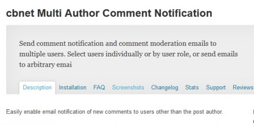 cbnet Multi Author Comment Notification