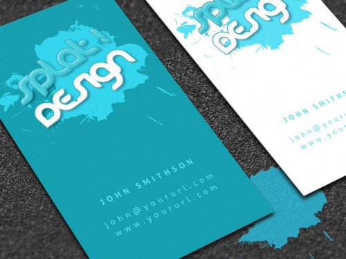 Beautiful Splat Business Card with PSD