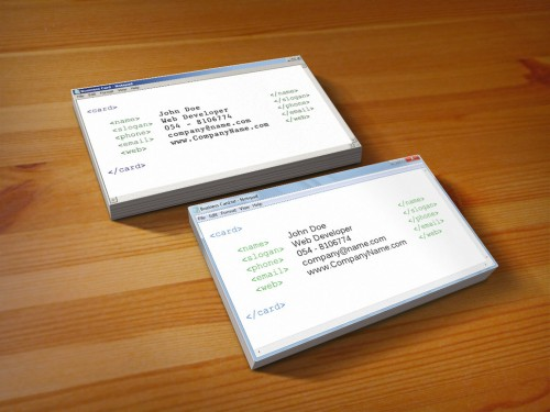 Original and Creative Notepad Business Card