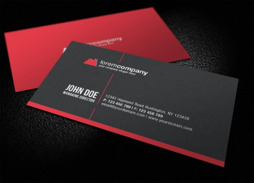 Professional Corporate Business Card