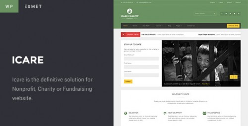 ICARE Charity - Fundraising and Nonprofit WordPress Theme