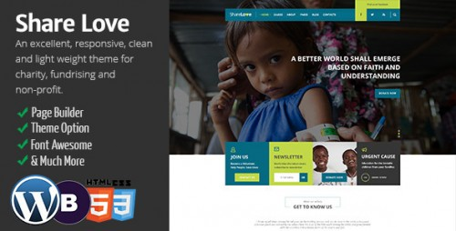 ShareLove - Charity WordPress Theme