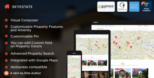Skyestate - 5 Layouts Real Estate WordPress Theme
