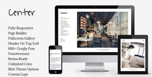 Center - Portfolio, Gallery Responsive WP Theme
