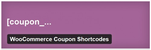 WooCommerce Coupon Shortcodes