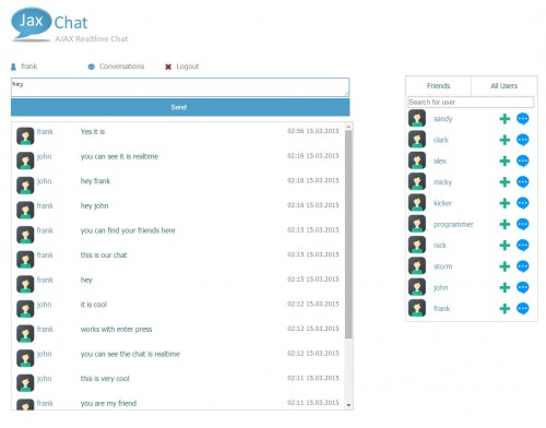 JaxChat - AJAX Responsive Realtime Chat