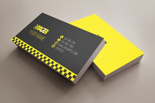Travel A2B Taxi Business Card
