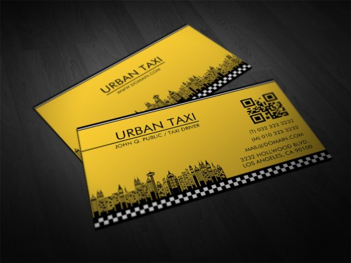 Yellow Cab Taxi Driver Business Card