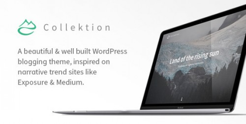 Collektion - Storytelling WordPress Theme